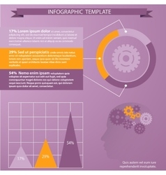 Tempate for infographic vector image vector image