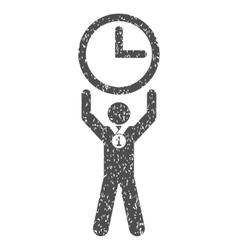 Time champion grainy texture icon vector