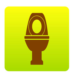 Toilet sign brown icon at vector