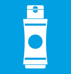 Tube of cream or gel icon white vector