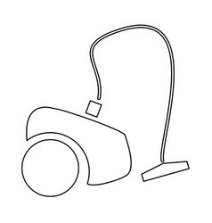 Vacuum cleaner the black color icon vector