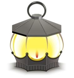 Vintage Street Lamp Glowing lantern vector image