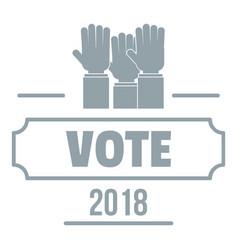 Vote registration logo simple gray style vector