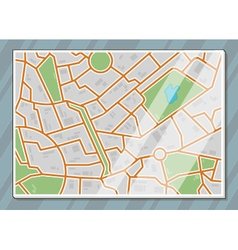 Texture city map vector