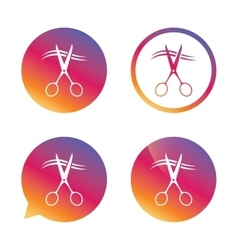 Scissors cut hair sign icon hairdresser symbol vector