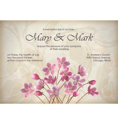 Floral decorative wedding or invitation design vector