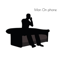 Man on phone pose vector