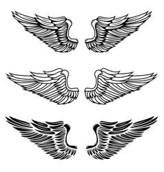 vintage wings vector image