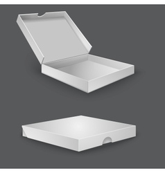 Open packing box for pizza vector