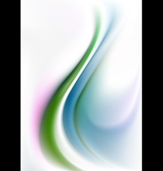 Green and blue curves waves on white gradient mesh vector