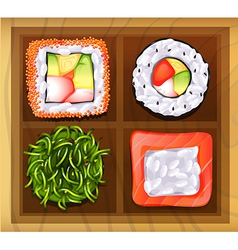 Japanese rice meals vector