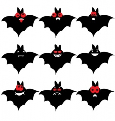 Bat emoticons vector