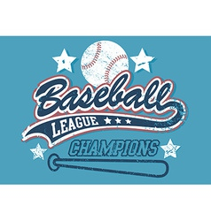 Baseball league champions vector