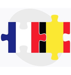 France and belgium flags vector