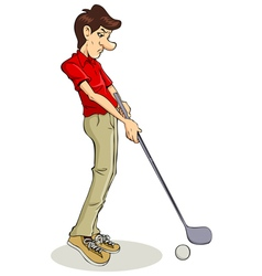Golfer cartoon vector
