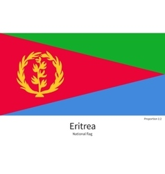 National flag of eritrea with correct proportions vector
