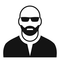 Man with glasses avatar simple icon vector
