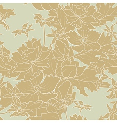 Seamless of a outline flowers and leafs vector