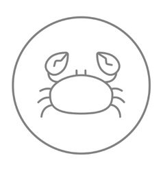 Crab line icon vector