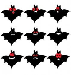 bat emoticons vector image vector image