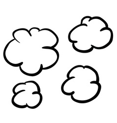Black and white freehand drawn cartoon puff of vector