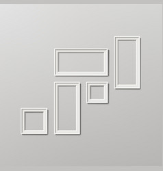 blank picture frame template composition set vector image vector image