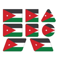 buttons with flag of Jordan vector image