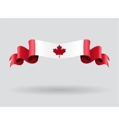 Canadian wavy flag vector image vector image