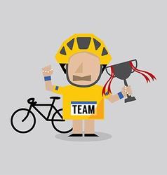 Champion cyclist athlete vector