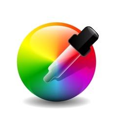 Color picer icon vector