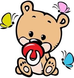 Cute baby bear vector