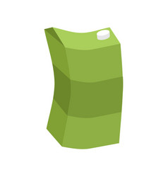 empty juice box rubbish isolated garbage on white vector image vector image