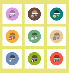 flat icons halloween set of bloody jelly and vector image vector image