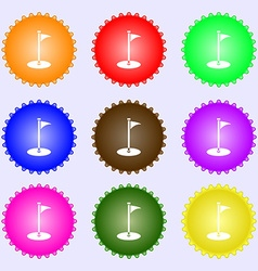 Golf icon sign big set of colorful diverse vector