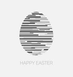 Happy easter - minimalist easter card vector