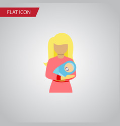 Isolated woman flat icon kid element can vector