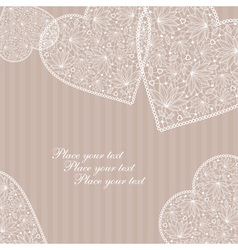 lace hearts vector image