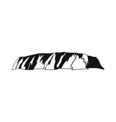Majestic Uluru icon simple style vector image vector image