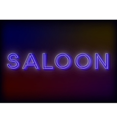 Neon saloon saloon neon sign design for your vector