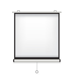 projector screen white vector image