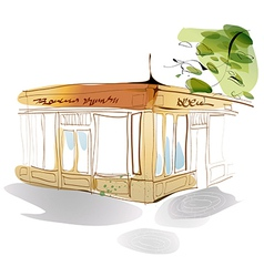 Restaurant Shopfront Sketch vector image vector image
