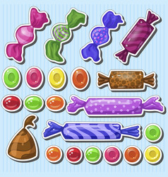 Set of cartoon candies vector