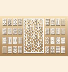 Set of die cut cards vector