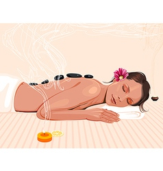 spa therapy vector image