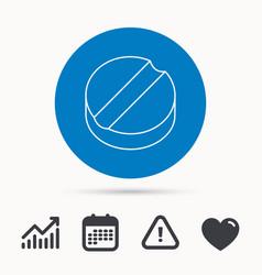 tablet icon medicine drug sign vector image