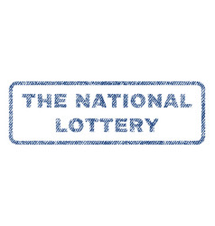 The national lottery textile stamp vector