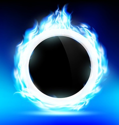 The ring burns blue flame vector