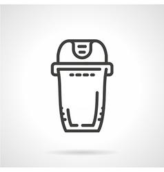 Trash can black line icon vector