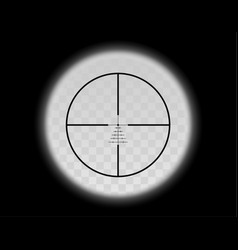 View through the optical sight military scale vector