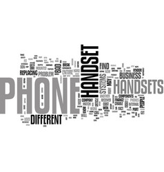 What s a handset text word cloud concept vector